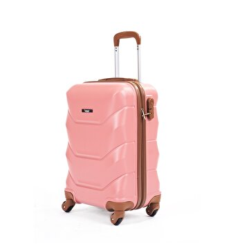 Picture of  Baggaj V318 ABS Cabin Size Suitcase - Pink