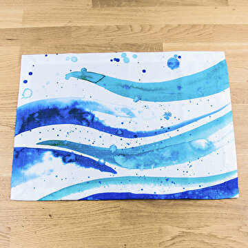 Picture of BiggDesign AnemosS - Place Mats - Wave Patterned - 2 Pieces - Blue