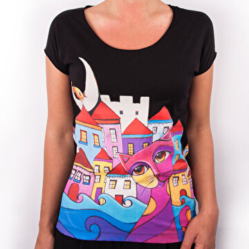 "Picture of BiggDesign ""Owl and City"" Women T-Shirt - Small"
