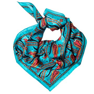 Picture of BiggDesign Tulips Faso silk scarf