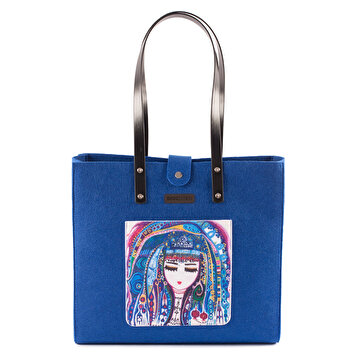 "Picture of BiggDesign ""Blue Water"" Felt Bag - Blue"