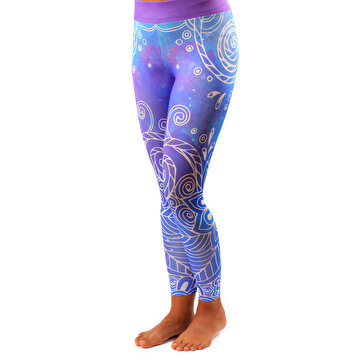 Picture of BiggYoga Karma Slim Fit Leggings Women - Purple
