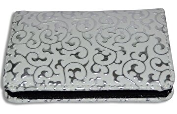 Picture of NEKTAR 70401ptn08a Embossed Pu Leather Business Card Holder White