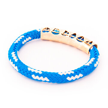 Picture of BiggDesign AnemosS Sail Detailed Rope Bracelet - Blue