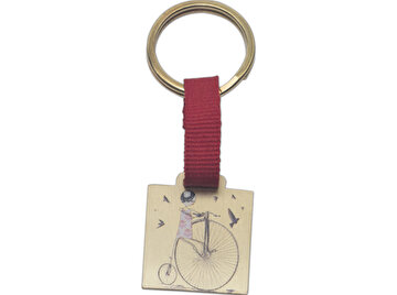 Изображение BiggDesign Bicycle Girl Keychain