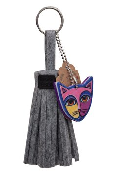 Picture of BiggDesign Cat Felt Tassel Keychain