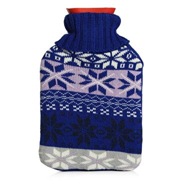 Изображение BIGGHOME Blue Snow Pattern Hot Water Bottle