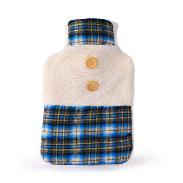 Изображение BIGGHOME Blue Checkered Hot Water Bottle