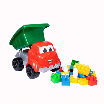 Изображение Dede Toy Truck with Pieces of Blocks