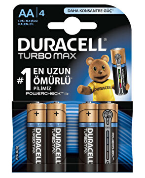 Picture of  Duracell Turbo Max Kalem Pil 4'lü AA