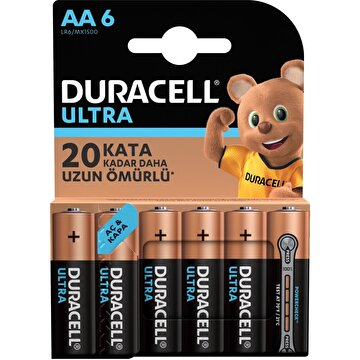 Picture of  Duracell Ultra Kalem Pil 6'lı AA