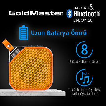 Picture of  Goldmaster Enjoy-60 Turuncu Bluetooth Hoparlör