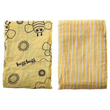 Picture of Milk&Moo Buzzy Bee Muslin Swaddle Blanket  Set of 2