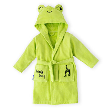 Picture of Milk&Moo Cacha Frog Velvet Bathrobe