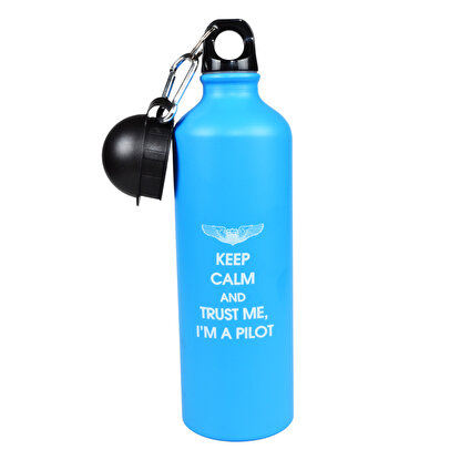 Resim  THK Design Keep Calm Aluminyum Mavi Mug