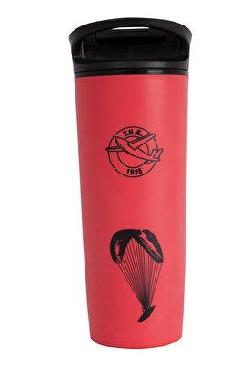 Resim  THK Design Kırmızı Devrilmez Mug Paraşüt