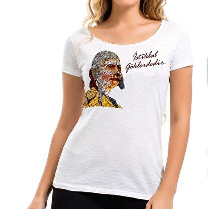 Resim  THK Design Sabiha Gökçen Kadın T-Shirt