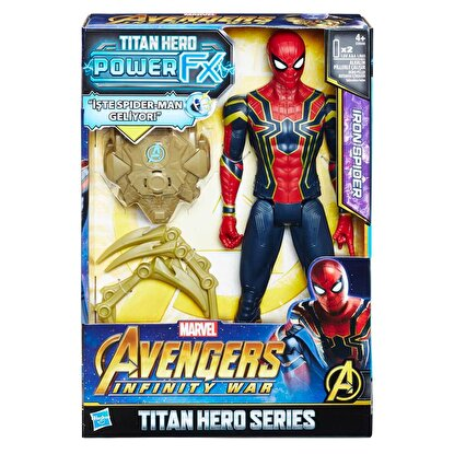 Resim   Avengers Infinity War Titan Hero Power FX Spiderman Figür 30 cm.