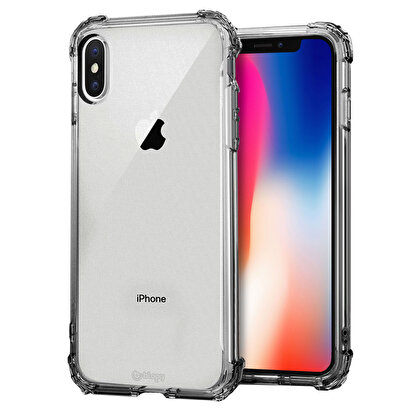 Resim  Buff  Blogy iPhone Xs Max Crystal Fit Kılıf Smoke Black