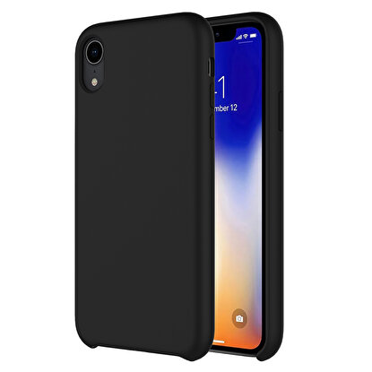 Resim  Buff  iPhone XR Rubber Fit Kılıf Black