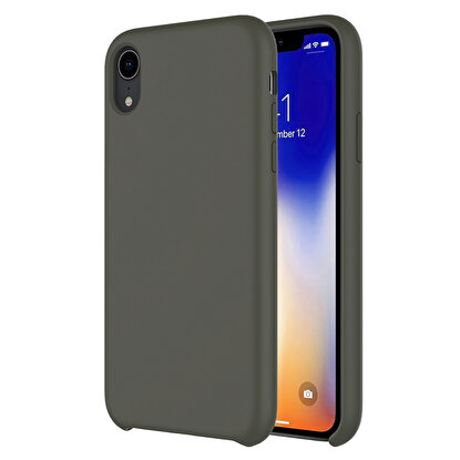 Resim  Buff  iPhone XR Rubber Fit Kılıf Dark Olive