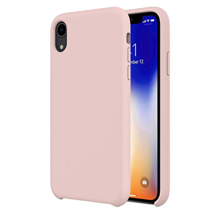 Resim  Buff  iPhone XR Rubber Fit Kılıf Pink Sand