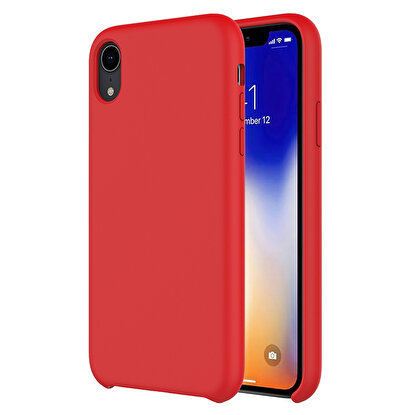 Resim  Buff  iPhone XR Rubber Fit Kılıf Red