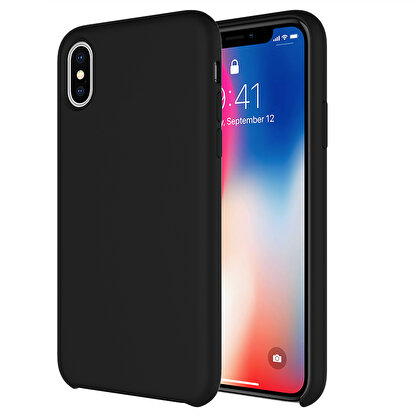 Resim  Buff  iPhone Xs Max Rubber Fit Kılıf Black