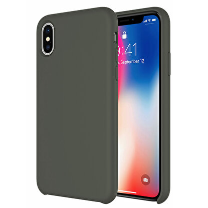 Resim  Buff  iPhone Xs Max Rubber Fit Kılıf Dark Olive