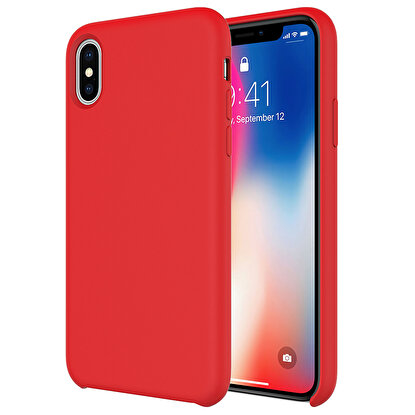 Resim  Buff  iPhone Xs Max Rubber Fit Kılıf Red