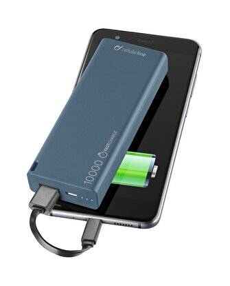 Resim   Cellularline Slim 10000 Mah Powerbank - Mavi