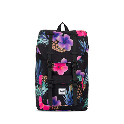 Resim   Herschel Little America Mid-Volume Black Pineapple/Black Rubber Sırt Çantası