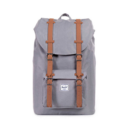 Resim   Herschel Little America Mid-Volume Grey/Tan Synthetic Leather Sırt Çantası