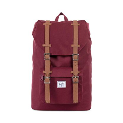 Resim  Herschel Little America Mid-Volume Windsor Wine/Tan Synthetic Leather Sırt Çantası
