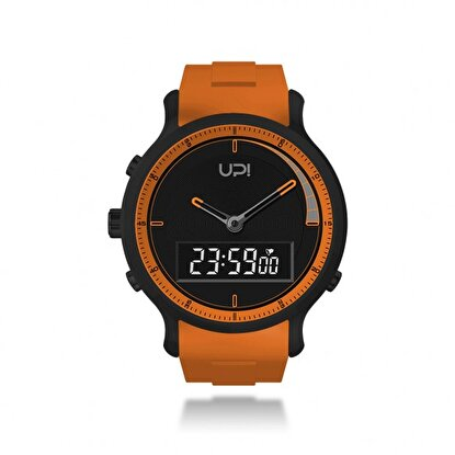 Resim   Upwatch Double Black & Orange Unisex Kol Saati