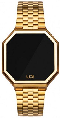Resim   Upwatch Edge Shiny Gold Unisex Kol Saati
