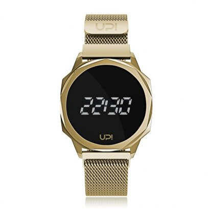 Resim   Upwatch Icon Gold Loop Band Unisex Kol Saati