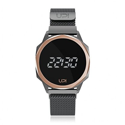 Resim   Upwatch Icon Gun Metal Loop Band Unisex Kol Saati