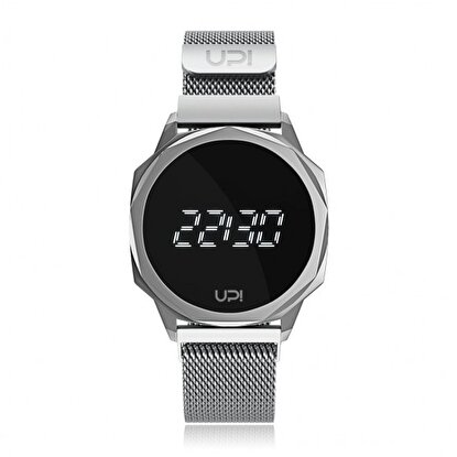 Resim   Upwatch Icon Silver Loop Band Unisex Kol Saati