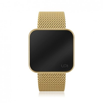 Resim   Upwatch Touch Slim Steel Gold Unisex Kol Saati
