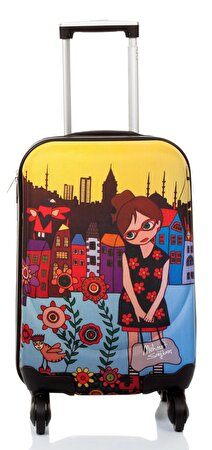 "Picture of BiggDesign BGDT0922D04 Canvas Luggage 18 ""Mehmet Sağbaş Flower Girl"