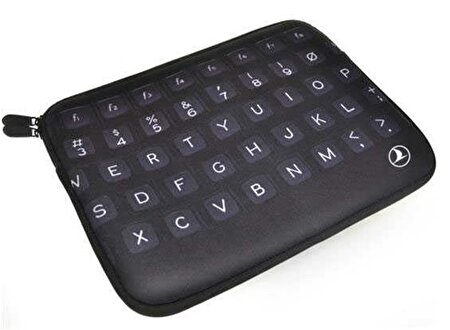 "Picture of  TK Collection Neoprene Laptop Sleeve 11 ""Keyboard Black"