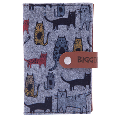 Biggdesign Cats Keçe Pasaport Kabı