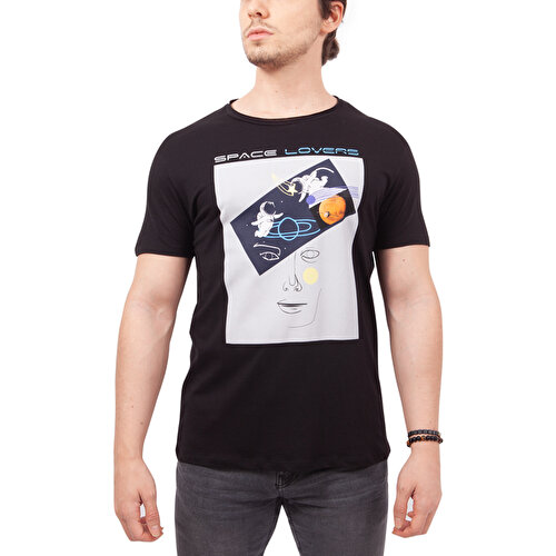 Biggdesign Faces Space Lovers Erkek T-Shirt