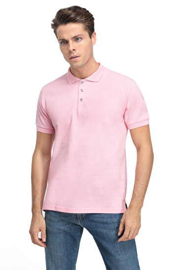 Picture of DS Damat XL Beden Erkek Regular Fit Pembe Erkek T-shirt