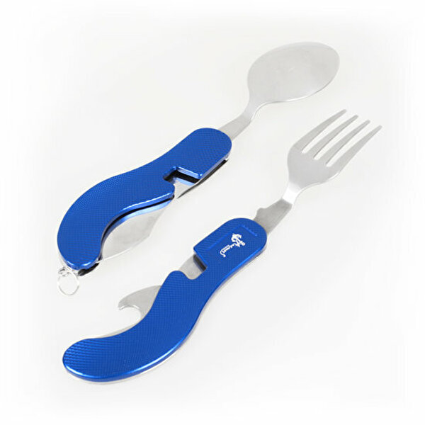 Picture of BiggDesign AnemosS Camping Pocket Knife & Fork & Spoon - 5 Functions - Blue