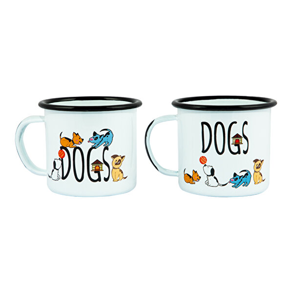 Picture of Biggdesign Dogs Enamel Mugs Set Pack of 2