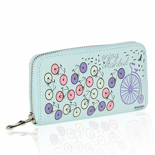 Picture of BiggDesign Enjoy Istanbul Bicycle Wallet Blue