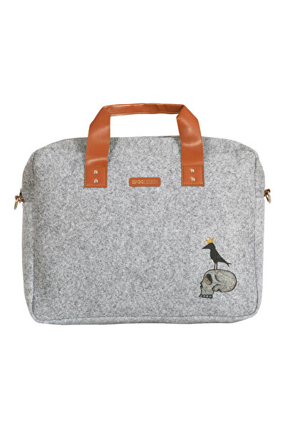 Picture of Biggdesign King Raven Felt Notebook Bag