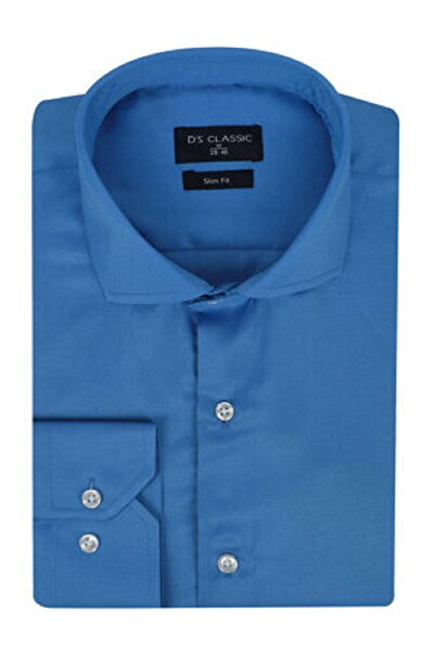 Picture of DS Damat Slim Fit Dark Blue Men's Shirt Small Size